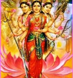 Mothers Lakshmi, Durga and Sarasvati...